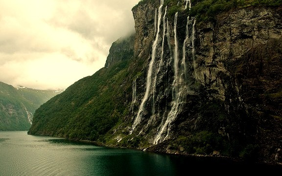 by AL JS on Flickr.Seven sisters waterfall in Geiranger fjord, Norway.