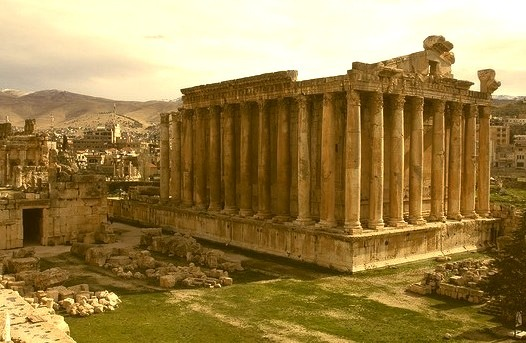 by xmm on Flickr.Temple of Bacchus in Baalbek, Lebanon.