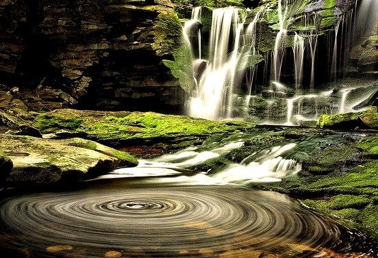by ForestGladesiWander on Flickr.Elakala Falls in West Virginia, USA.