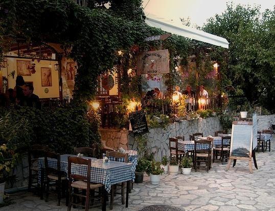 Poseidon taverna in Lefkada, Ionian Islands, Greece