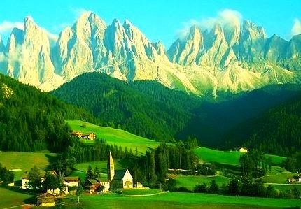 The Dolomites, Santa Maddalena, Italy