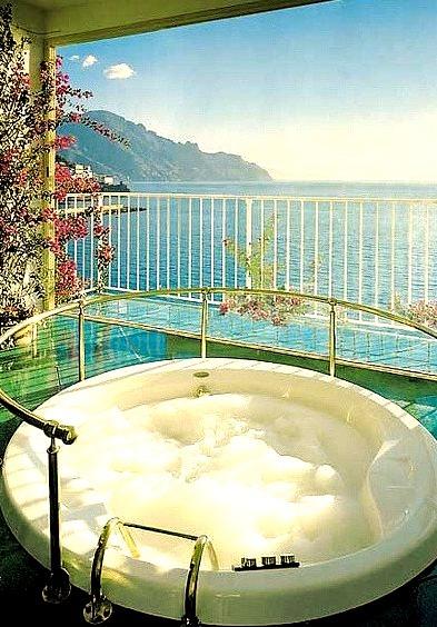 Private Whirlpool at Hotel Santa Caterina on Amalfi Coast, Italy