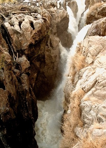 Epupa Falls created by the Kunene River on the border of Angola and Namibia