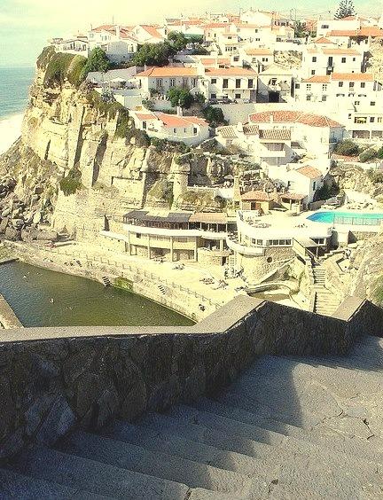 Going to Azenhas do Mar, a seaside town near Sintra, Portugal