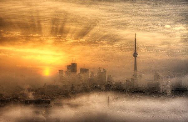 Foggy Toronto Sunrise, Canada