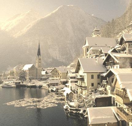 Winter's Day, Hallstatt, Austria