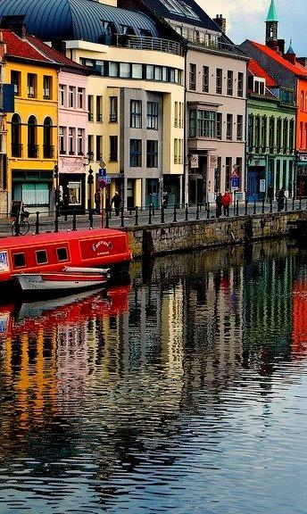 Riverside in Ghent, Belgium