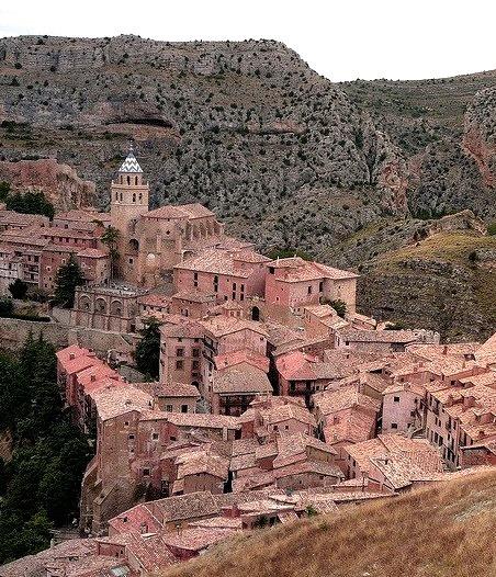 The medieval town of Albarracin in Teruel, Spain